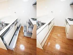 6.2列型システムキッチンのイメージ
